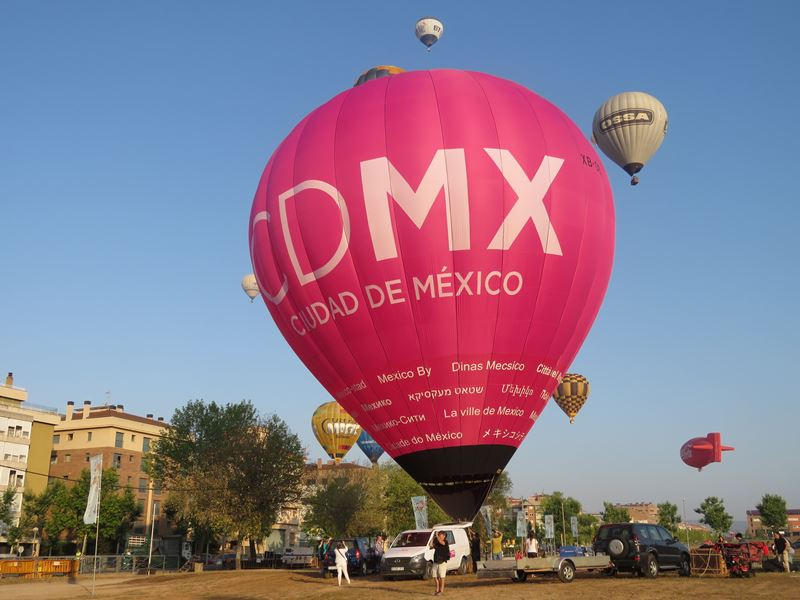 Campaign to launch CDMX in the original hot air balloon